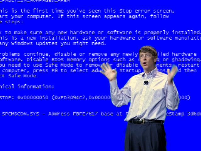 صفحه آبی ویندوز 95