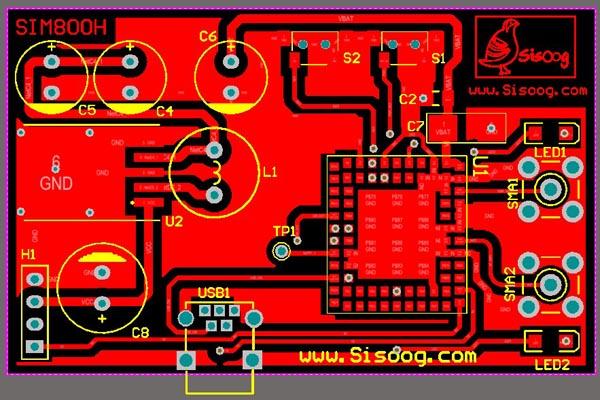 FREE PCB SIM800 HEDER BOARD