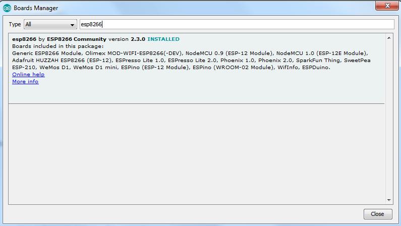 تنظیم esp8266 در آردوینو