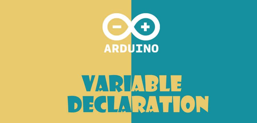 تعریف متغیر در آردوینو