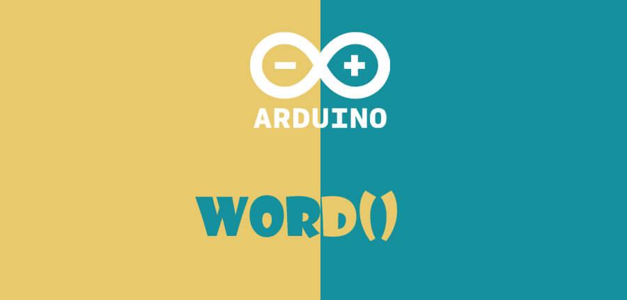 ()word در آردوینو