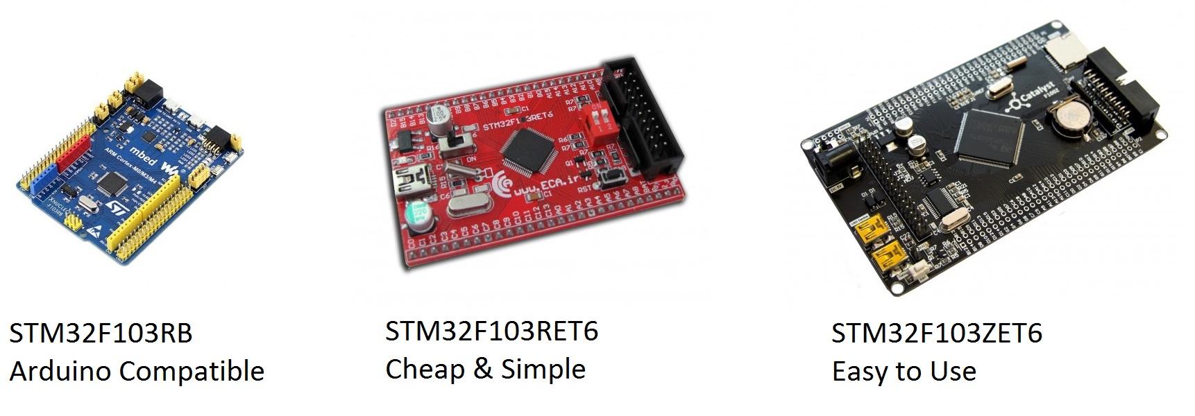 بردهای آموزشی STM 'میکروکنترلرهای ARM