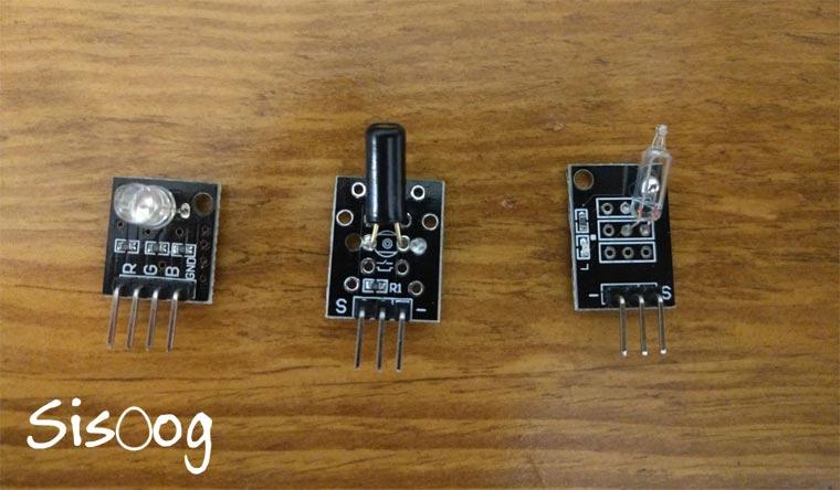 آموزش آردوینو پروزه ششم، Tilt Sensor , Shock Sensor , SMD Color