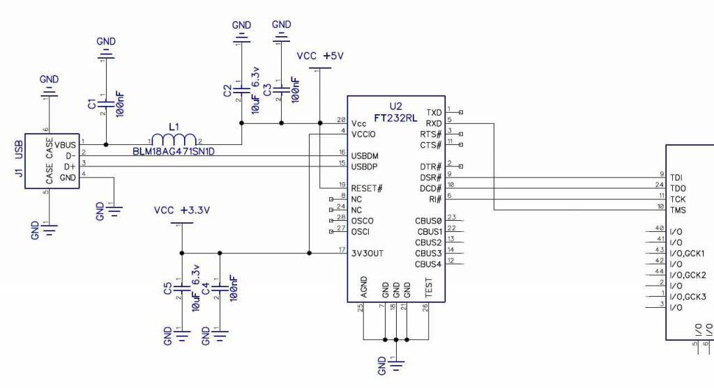 پروگرامر FPGA با چیپ FT232