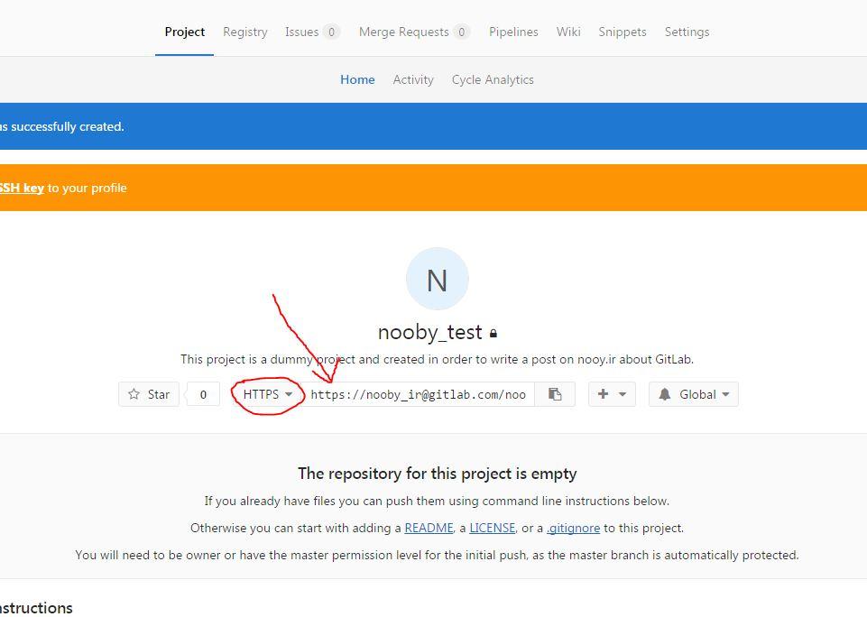 اضافه کردن فایلها به Gitlab