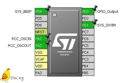 اتصالات سخت افزاری beeper در میکروکنترلر STM8