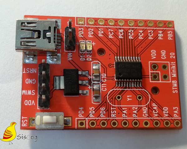 برد میکروکنترلر STM8F003F4
