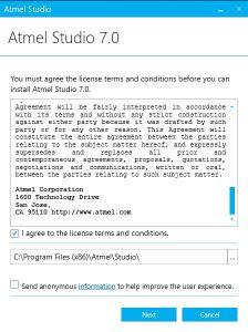 فایل نصبی Atmel Studio