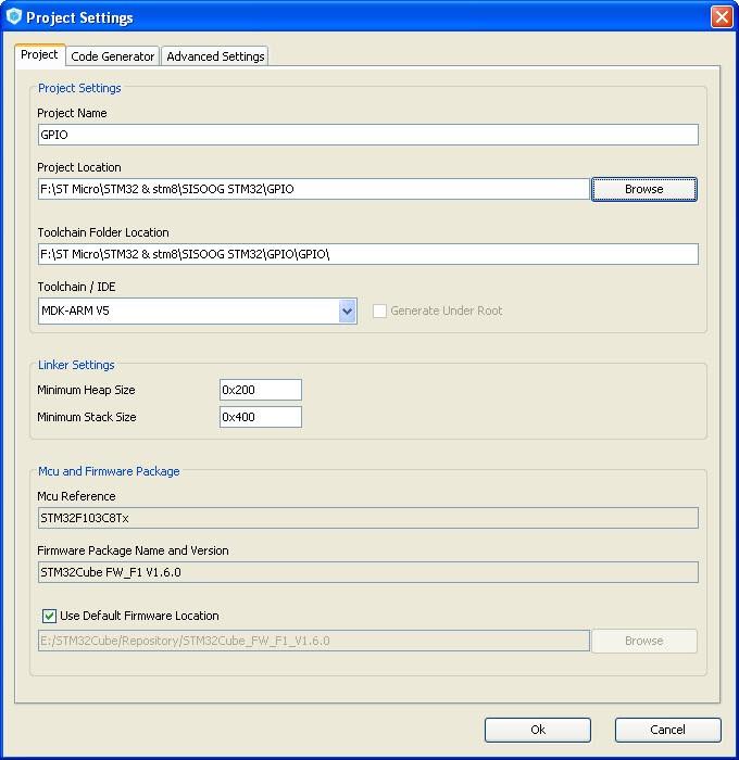 محیط نرم افزار cubeMx برای میکروکترلر STM32