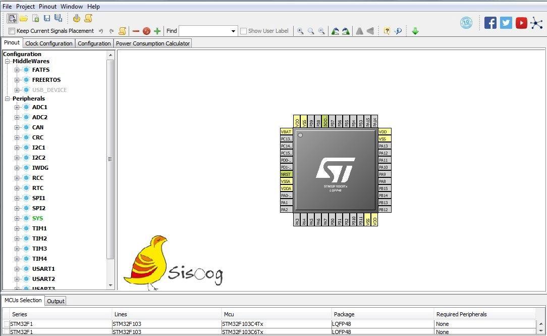 محیط ویرایش میکروکنترلر ARM در نرم افزار CubeMX