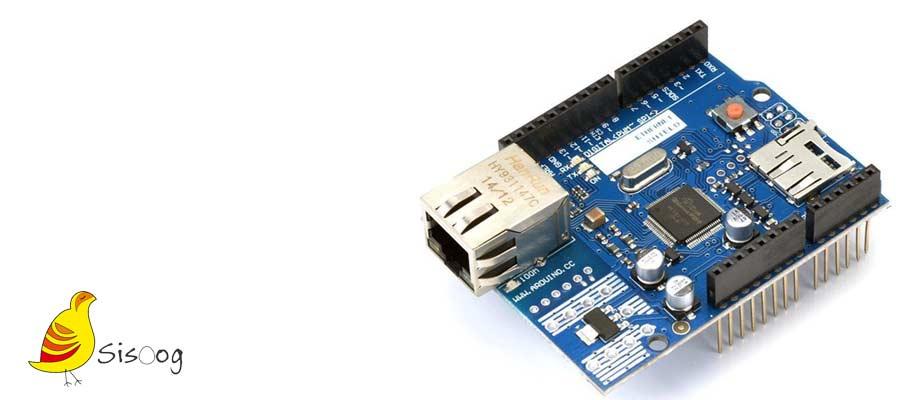 راه اندازی شیلد اترنت آردوینو w5100