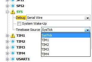 تنظیم تایم سورس در نرم افزار CubeMX مرویط به میکروکنترلر STM32