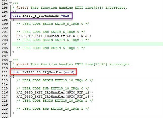 دستور وقفه بیتهای مختلف