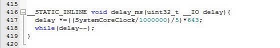 ایجاد تاخیر با استفاده از سیکل شمارشی در میکروکنترلر STM32