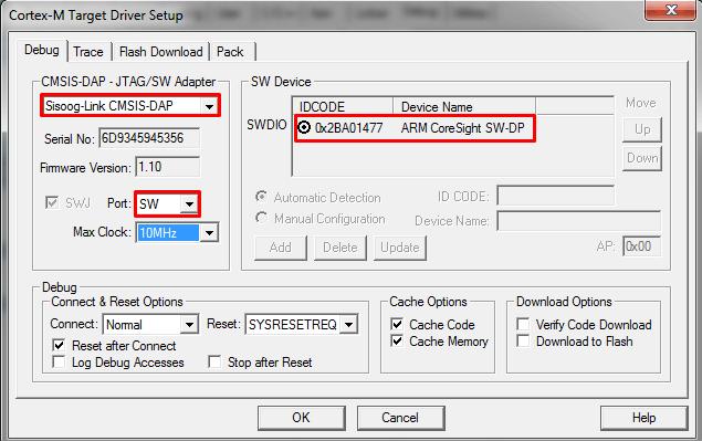 اتصال نرم افزار keil به میکروکنترلر با استفاده از پروگرامر sis-link