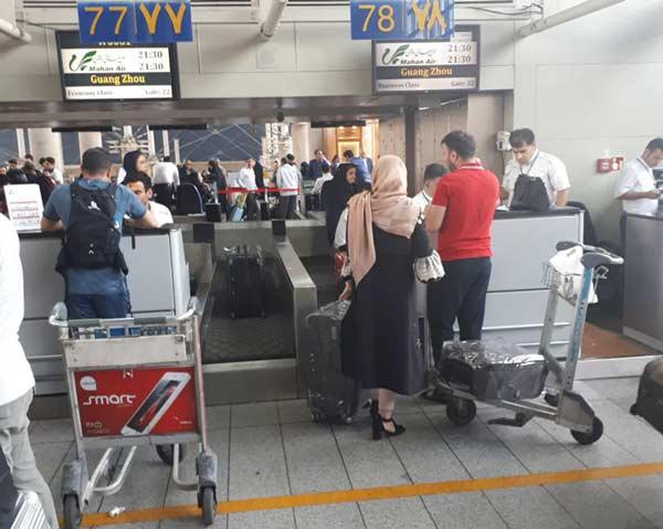 شروع سفر به چین با تحویل چمدان ها در فرودگاه