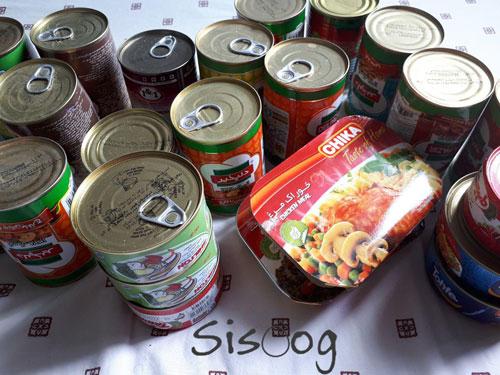 غذای کنسروی برای سفر به چین