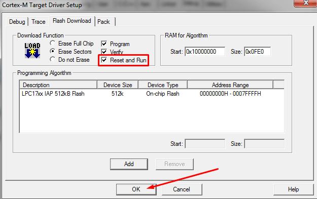 تنظیمات Upload در keil