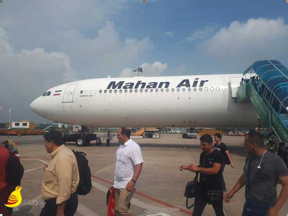 پیاده شدن از هواپیما