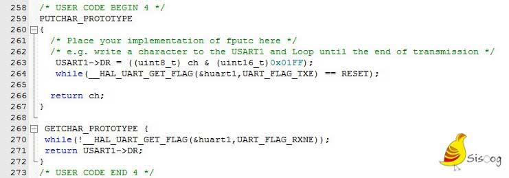 آمادهسازی توابع برای کار با UART1