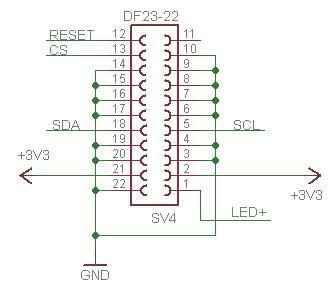 پایه های LCD گرافیکی Nokia 5300 در حالت 22 پایه