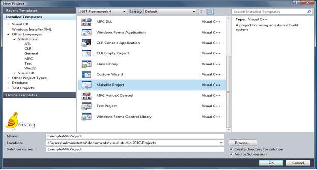 ایجاد پروژه میک فایل در میکروکنترلر AVR با ویژوال استودیو