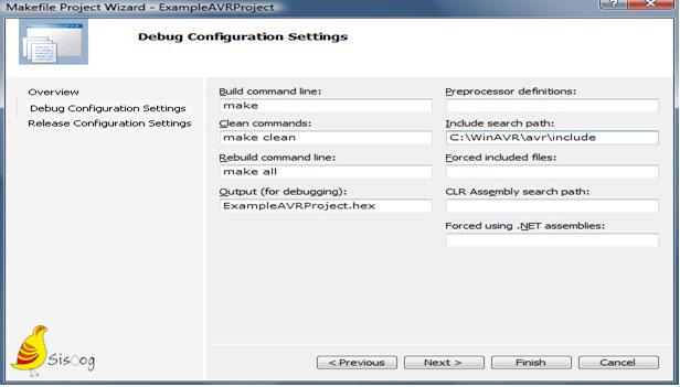 کانفیگ پروژه میک فایل از طریق ویزارد