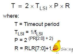 فرمول محاسبه وقفه تایمر نگهبان IWDG