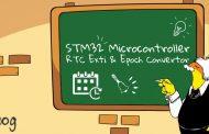 آموزش میکروکنترلر STM32 قسمت 13 : وقفه های رابط RTC و تبدیل تاریخ