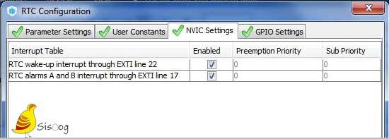 لبه NIVIC Setting از برگه RTC