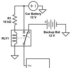سوییچ باتری با استفاده از رله