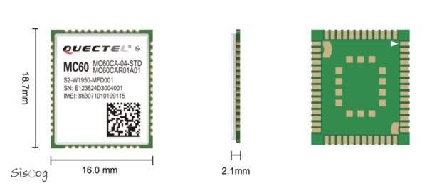 ابعاد و مشخصات ماژول MC60 کویکتل