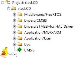 ساختار پروژههای میکروکنترلر آرم در نرمافزار Kail