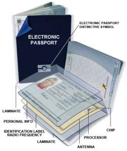 ساختار پاسپورت الکترونیک