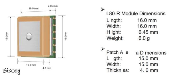 ابعاد ماژول L80 R کویکتل