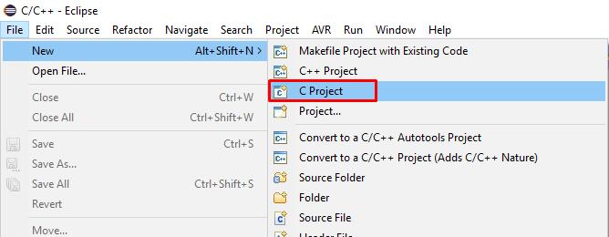 ایجاد پروژه C برای STM8 در Eclipse