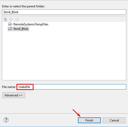 انتخاب اسم یک فایل در eclipse