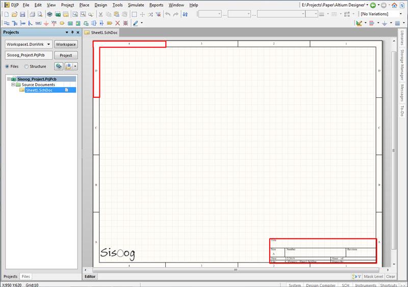 صفحه شماتیک در آلتیوم دیزاینر