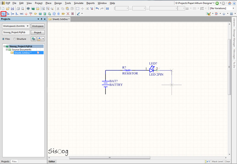 سیم کشی در شماتیک آلتیوم دیزاینر