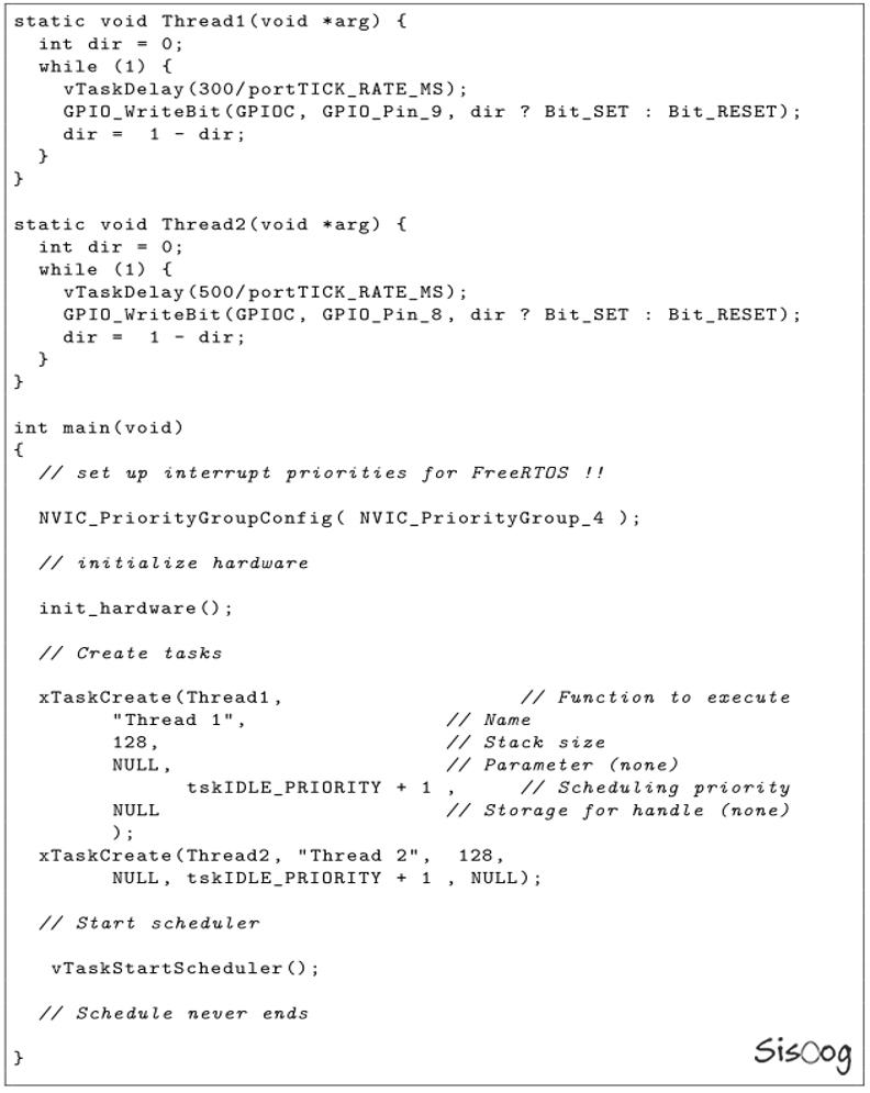 برنامه نمونه با دو Thread