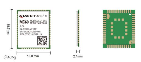 MC60E ابعاد و مشخصات فنی