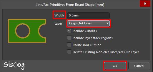 Board Shape در محیط PCB در آلتیوم دیزاینر 18