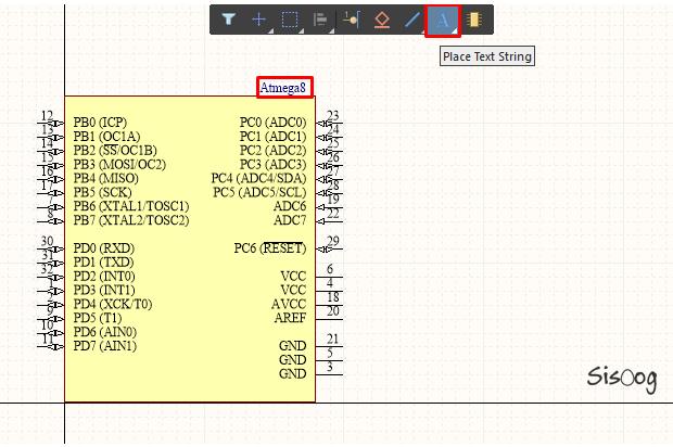 نوشتن Text در کتابخانه آلتیوم دیزاینر 18