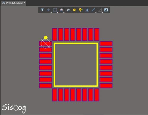 ایجاد فوت پرینت المان در PCB کتابخانه آلتیوم دیزاینر 18