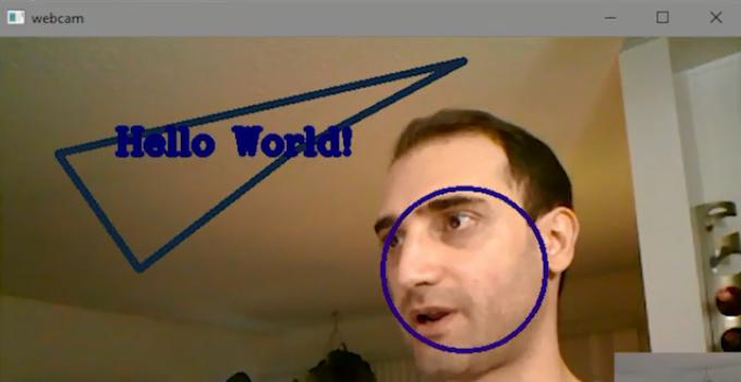 ترسیم بر روی ویدئو در OpenCV