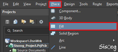 ّFill در آلتیوم دیزاینر