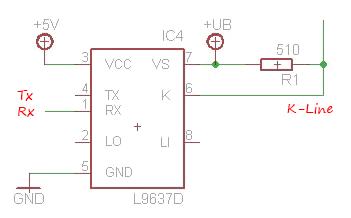 تبدیل k line به سریال با تراشه L9637