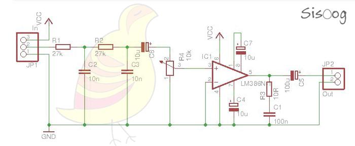 مدار فیلتر و تقویت صورت از ورودی pwm