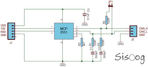 تراشه MCP2551 در CAN