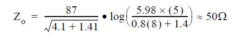 فرمول میکرواستریپ
